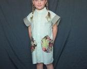 Daddy's Girl Shirt Dress Cotton Dress School Dress Art Smock Refashioned Mans Shirt Little Girl Dress Cotton Dress Fall dress Spring dress