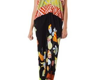 1970S MORPHEW LAB Maxi Resort Dress 2      Size: OS