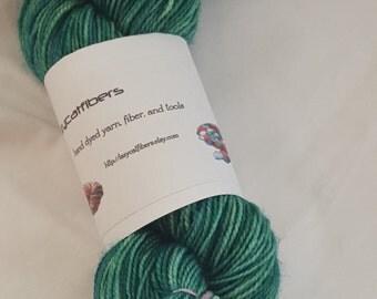 foliage kettled dyed sock yarn 450 yards superwash sock yarn