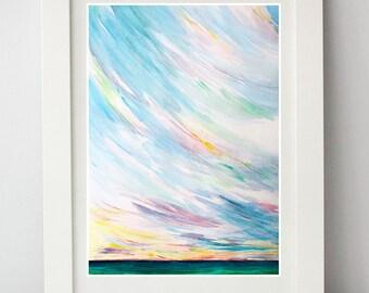 "Spring Dreams Sky - 8""x10"" Watercolor Fine Art Print"