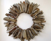 Midsize Driftwood Wreath, Rustic Home Decor, Beach Home Decor