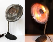SALE // Vintage Prak-T-Kal Cast Iron Infrared Flexible Heat Lamp, Industrial Decor