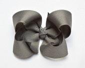 Grey Hair Bow, Hair Bows, 3 Inch Bows, Toddler Bows, Girls Hair Bows, Hairbows, Hair Bows for Girls, Baby Bows, Hair Bows for Toddlers,  300