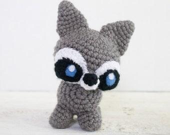 Raccoon Stuffed Animal - Choose Your Colors - Custom Made Raccoon - Crochet Raccoon