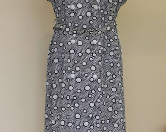 Vintage Polka Dot Spotty Wrap Dress UK size 16