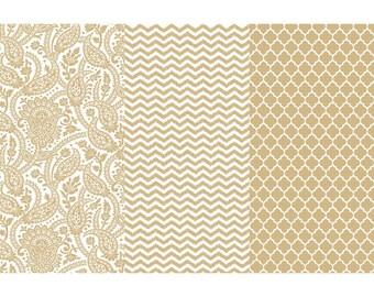 DECOUPAGE PAPER - Gold Metallic DecoArt Decoupage Paper - Collage Paper - Multi Media Paper - Altered Art Craft Paper