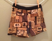 Clearance Sale - Boys Girls Flannel Boxer Shorts - Baseball, Basketball, Soccer, Fishing Fabric....Kids Sizes 10-12