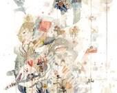 Studio Ghibli Miyazaki Watercolor Painting Art Print