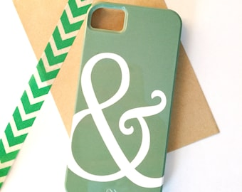 SALE - Green Ampersand iPhone 5 / 5S Case - Ready to Ship - Tech, Gadget Accessory, Bold, Modern, Graphic, Design, Green, White