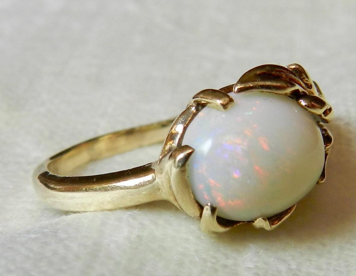 opal engagement ring opal ring vintage australian ct. Black Bedroom Furniture Sets. Home Design Ideas