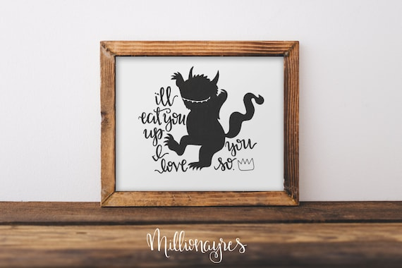 INSTANT DOWNLOAD  Printable Quote, Wall Art Decor Where the wild things are print  MillionAyres