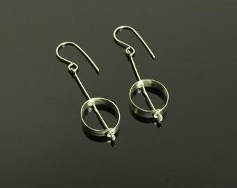 Handmade Sterling Silver circles