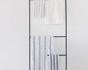 Metal Leaning Plant Kitchenware Towel Display Ladder