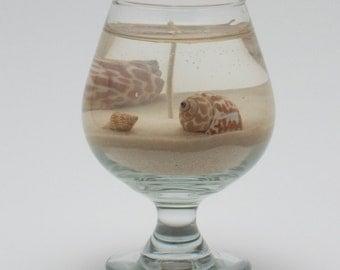 Beach Brandy Gel Wax Candle