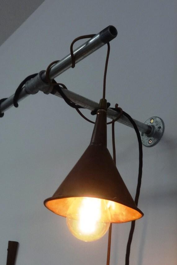 Copper Funnel Light