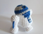 R2-D2 inspired amigurumi. Star Wars Softie.