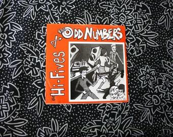 "The Hi-Fives and Odd Numbers - Split 7"" -  Vintage Vinyl 45 7"" Record. Rare GI Records Rare Rockabilly 90s Pop Punk Garage Rock"