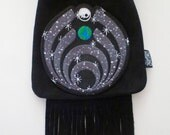 LoopyQ Limited Edition Black Spacenectar Bassnectar Pouch Designed by Universal Hippie Wear