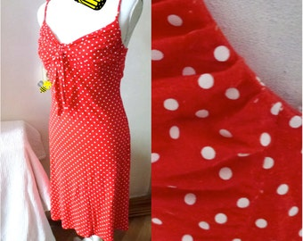 red point nautical vintage dress- ahoy!