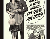 Fridge Magnet Husband Thinks Wife is Cute When She Works Hard Kellogg's Pep Cereal Ad