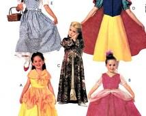 Children Girls Character Costume Sewing Pattern Size 12 14 Snow White Dorothy Belle Arabian Girl Shepherdess McCall's 2850 Uncut FFolds