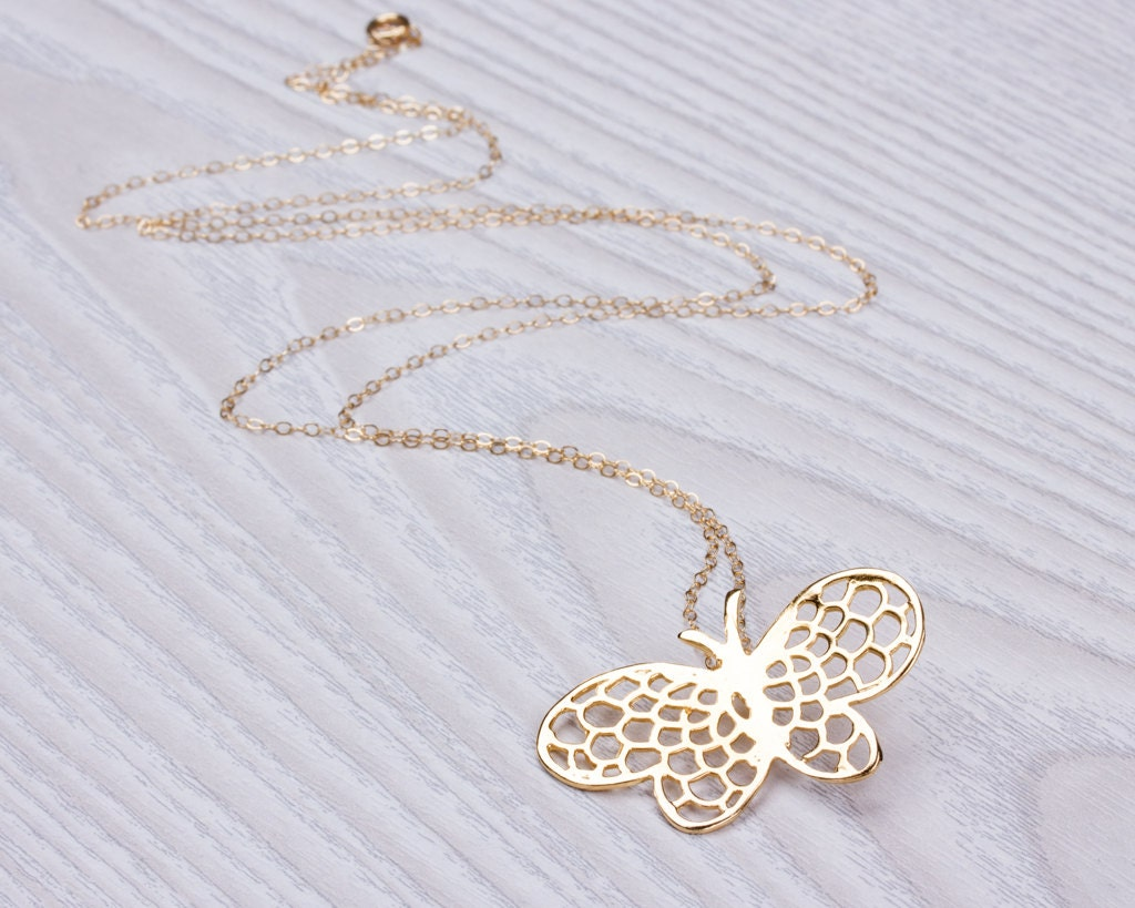 gold butterfly necklace long layered necklace rose gold. Black Bedroom Furniture Sets. Home Design Ideas