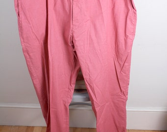 Vintage 1980s Era Haband Brand Nantucket Reds Dress Khakis Big and Tall Man