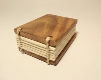 Handmade Journal Rosewood with beautiful handmade Lokta paper wood notebook journal diary sketchbook