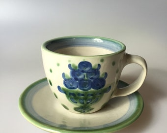 Vintage  M. A Hadley Cup and Saucer