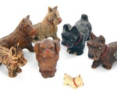Vintage Syroco Dog Collection - Mid Century 1940 - 1950's