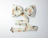 Bow Tie by BartekDesign: pre tied ivory surfer ginger girl and dog fun wedding groomsman chic bridesman men women
