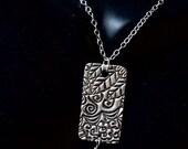 Fine Silver Pendant with Pearl Drop,