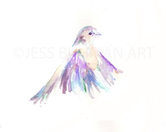 """Original Watercolor Painting, Titled: """"Such Great Heights"""" by Jessica Buhman 11 x 14 Original Bird Painting"""