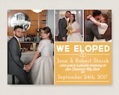 Elopement announcement. Modern wedding announcement, available as a postcard. Completely customizable and printable. #50