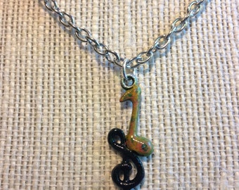 "20"" Mulicolored Music Notes Necklace"