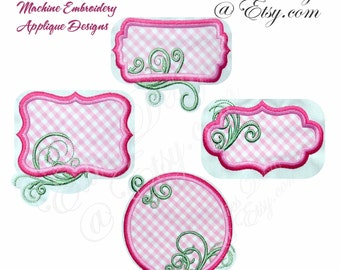 APPLIQUE Frames Ver 2  Machine Embroidery Applique Designs Digital Download