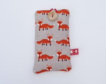 Fox iPhone Case / iPhone 6 Case / iPhone 5 Sleeve / Padded iPhone 5 Case / iPhone 4 Pouch / Smart phone Cover