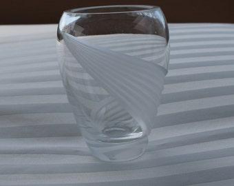 Lenox Crystal Vase Windswept Pattern