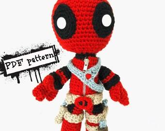 Amigurumi Crochet Dress Pattern : Spiderman Sackboy Amigurumi PDF Pattern by YarrrnIt on Etsy