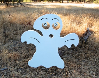 Spooky Halloween Ghost Yard Decoration Engraved Wood Sign, Halloween Decoration