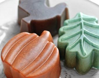 Pumpkin Soap / Leaf Soap / Turkey Soap - Fall Soap