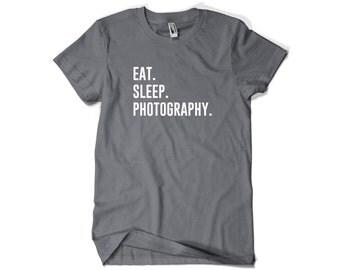 Photographer Shirt-Eat Sleep Photography T Shirt Gift Men Women
