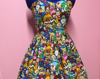 Mario power nintendo dress