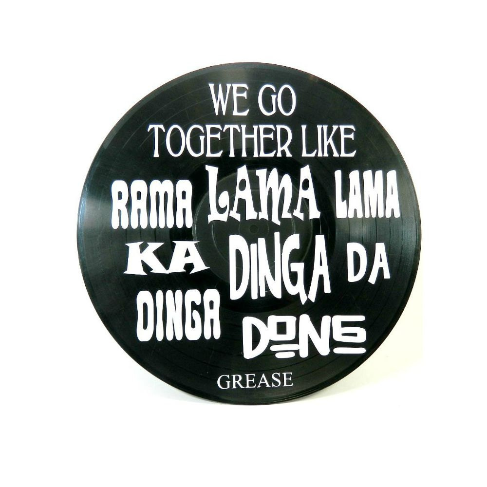 Grease We Go Together Song Lyrics Vinyl On Vinyl Record Music