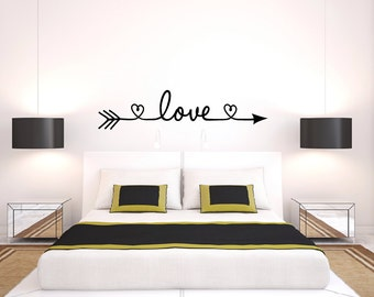 Exceptional Love Arrow Decal   Heart Wall Decal   Bedroom Decor   Love Wall Decal    Wedding Part 7