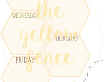 Weekly Honeycomb Planner