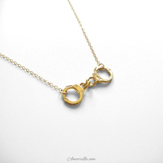 Handcuff Necklace / Dainty 14k Gold Filled Chain Thin Delicate