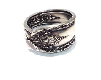 Vintage Sterling Silver Spoon Ring - Circa 1922