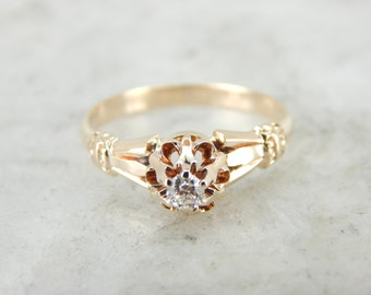 Gleaming Antique Victorian Engagement Ring CFQ2Y7-D