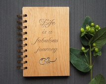 Inspirational Wood Journals - Inspiring Notebooks with Wood Cover - Life is Journey